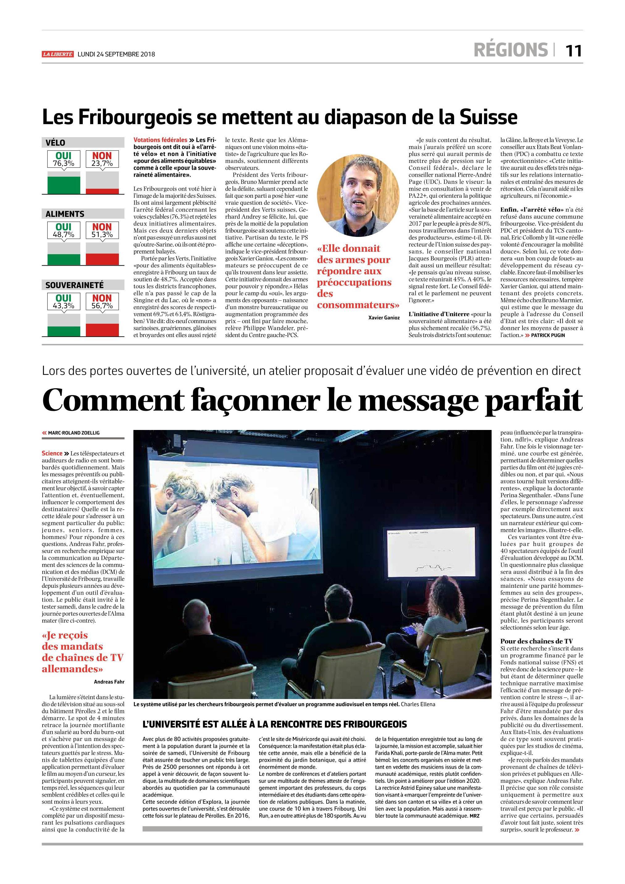 La Liberté, 21.09.2018