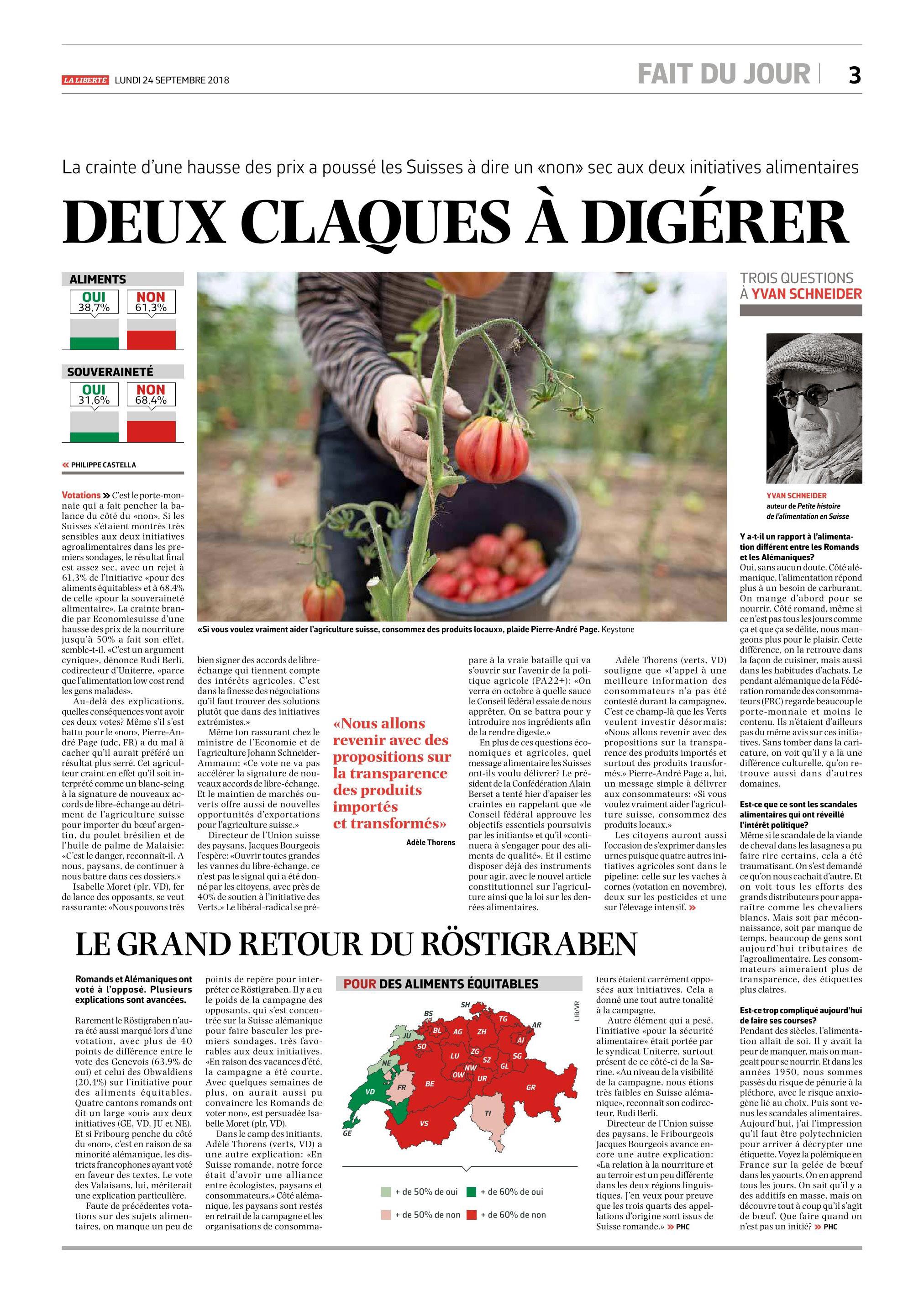 La Liberté, 24.09.2018